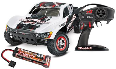 Traxxas Slash 2wd RTR SC Truck With On-Board Audio and White Body