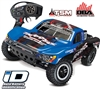 Traxxas Slash VXL 2wd SC Truck with Traxxas Blue # 1 Body, TSM, OBA