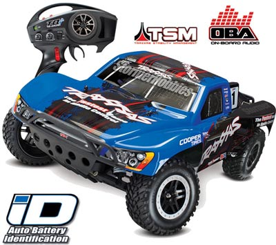 Traxxas Slash VXL 2wd SC Truck with Traxxas Blue Body, TSM, OBA