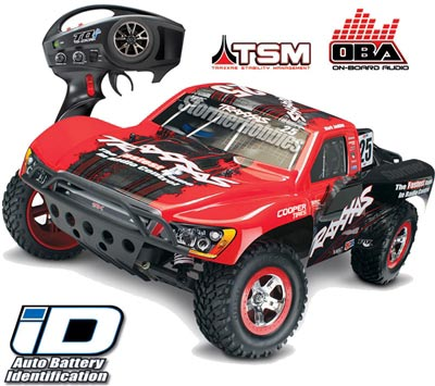 Traxxas Slash VXL 2wd SC Truck with Mark Jenkins #25 Body, TSM, OBA