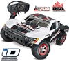 Traxxas Slash VXL 2wd SC Truck with Traxxas White # 1 Body, TSM, OBA