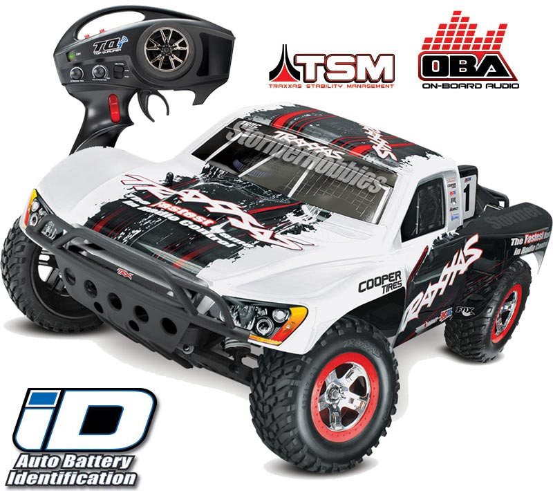 Traxxas Slash VXL 2wd SC Truck with Traxxas White Body, TSM, OBA