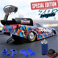 Traxxas 1/8th Special Edition Ford Mustang NHRA Funny Car RTR with blue aluminum parts