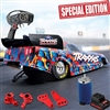 Traxxas 1/8th Special Edition Ford Mustang NHRA Funny Car RTR with red aluminum parts