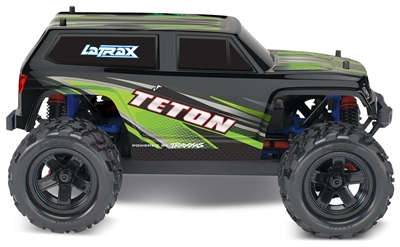 LaTrax 1/18th Teton 4wd RTR Monster Truck with green body