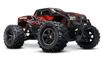Traxxas X-Maxx 4x4 8S Extreme Size Monster Truck, brushless, RED color