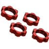 Traxxas X-Maxx 17mm Splined Serrated Wheel Nuts, red aluminum (4)
