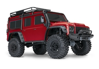 Traxxas TRX-4 Land Rover Crawler 1/10th RTR with red body