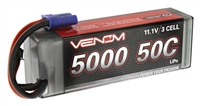 Venom 5000mAh 50C 11.1V 3S Lipo Hardcase Battery Pack with EC5 Plug
