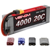 Venom 4000mAh 20C 7.4V 2S Lipo Battery Pack with Univeral Plug System