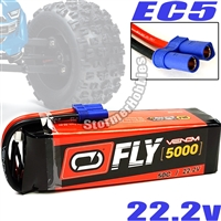 Venom 5000mAh 50C 22.2V 6S Lipo Battery Pack with EC5 Connector