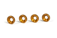 Xray Countersunk Washers, orange aluminum (4)