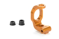 Xray T4/T3/T2 Front C-Hub, Left - 4 degrees, orange aluminum (1)