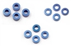Xray Shim Set, 1, 2, 3mm (4 of each size), blue aluminum