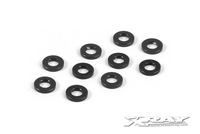 Xray T4/XB9/XT2 1mm Shims-3 x 6mm, black aluminum (10)