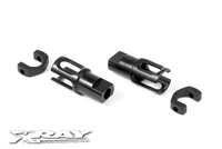 Xray T4/T3/T2 Steel Solid Axle Driveshaft Adapters (2)