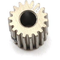 Xray Narrow Pinion Gear - hard coated aluminum - 64 pitch, 18 tooth