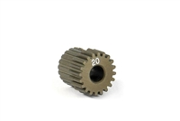 Xray Narrow Pinion Gear - hard coated aluminum - 64 pitch, 20 tooth