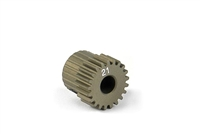 Xray Narrow Pinion Gear - hard coated aluminum - 64 pitch, 21 tooth