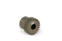 Xray Narrow Pinion Gear - hard coated aluminum - 64 pitch, 22 tooth