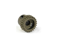 Xray Narrow Pinion Gear - hard coated aluminum - 64 pitch, 24 tooth