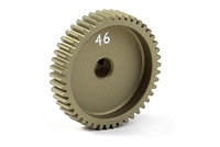 Xray Narrow Pinion Gear - hard coated aluminum - 64 pitch, 46 tooth