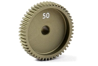 Xray Narrow Pinion Gear - hard coated aluminum - 64 pitch, 50 tooth