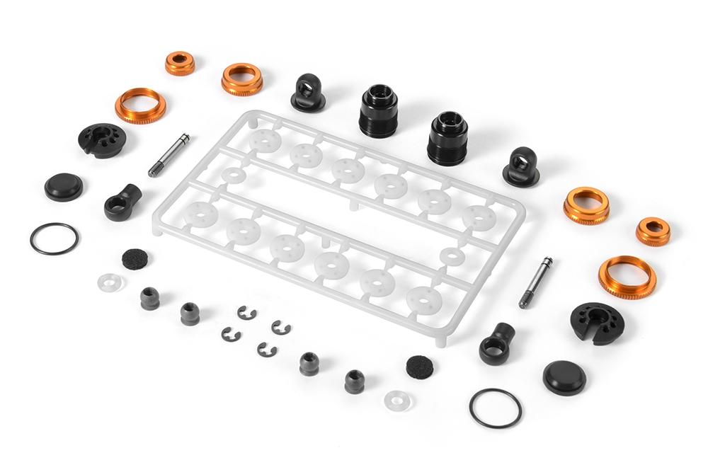 Xray T4 ULP Shock Absorber Set, orange aluminum (2)