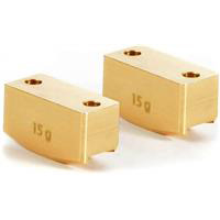 Xray XB8 Brass Rear Upright Weights, 15 Grams (2)