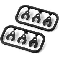 Xray XB8E Front Upper Suspension Arm Caster Clips (2)