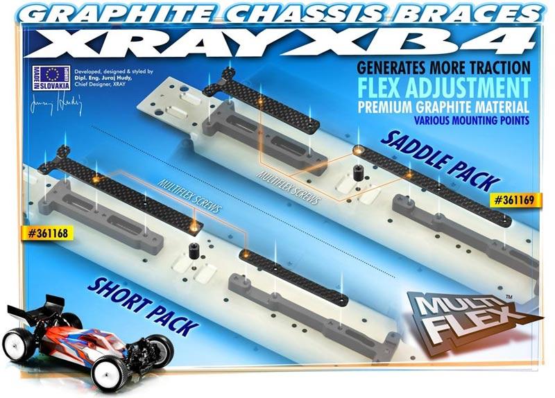 Short Pack Xray Graphite Chassis Brace Upper Deck 2 XRA361168