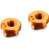 Xray X1 Eccentric Bushings Camber 1.0/2.5, orange aluminum (2)