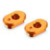 Xray X1 Eccentric Bushings Caster 6/9 degrees, orange aluminum (2)