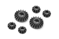 Xray X1/X12 Gear Differential Bevel and Satellite Gears (2+4), composite