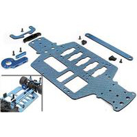 Xray M18 300ss Motor Conversion Chassis Set, blue graphite