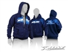 Xray Blue Hooded Sweatshirt with zipper, large