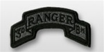 ACU Tab with Hook Closure:  RANGER 3RD BATTALLION - Scrolled