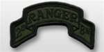 ACU Tab with Hook Closure:  RANGER 2ND BATTALLION - Scrolled