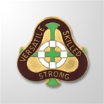 US Army Unit Crest: 2291st US Army Hospital  - Motto: VERSATILE SKILLED STRONG