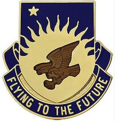 US Army Unit Crest: 207th Aviation Battalion - Motto: FLYING TO THE FUTURE
