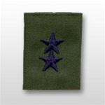 USAF Officer GoreTex Jacket Tab:  O-8 Major General (Maj Gen) - Embroidered - For BDU - 2 Star