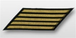 US Navy CPO Hashmarks Gold Embroidered: Set of  5 - Male - 7""