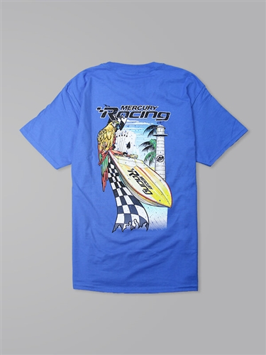 Fast Life Tee - Blue Breeze