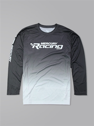 Ombre LS Performance Tee - Graphite