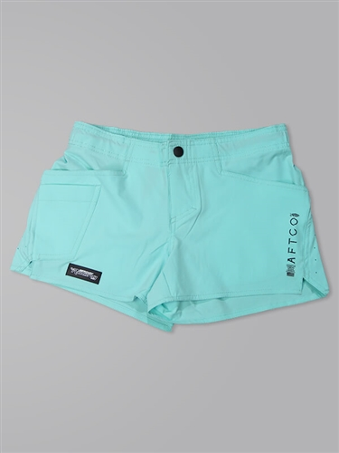 Women's AFTCO Microbyte Fishing Shorts - Mint