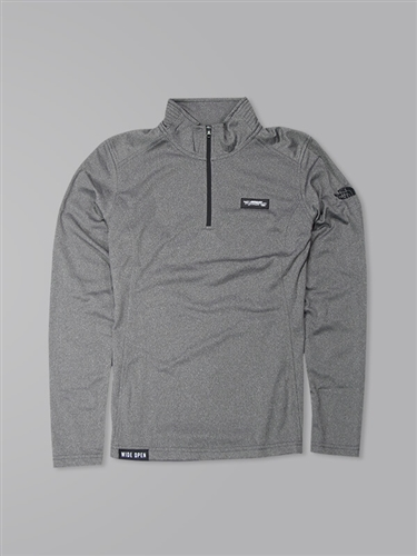 Women's North Face 1/4 Zip Fleece - Asphalt Grey