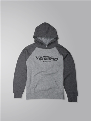 Youth Raglan Hoodie - Nickel / Carbon