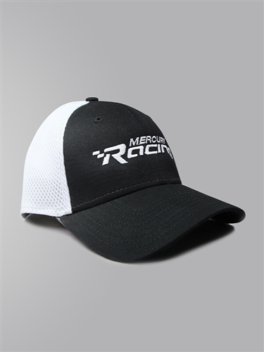 New Era Stretch Mesh Cap - Black | White - L/XL