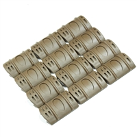 12 Pcs Rifle Weaver Picatinny Hand Guard Quad Rail Covers Rubber TAN