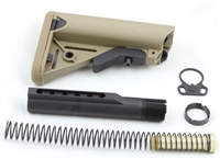 223/5.56 6-Position Cheek Rest Mil Spec Stock Kit buffer tube FDE BT-STKFDE2